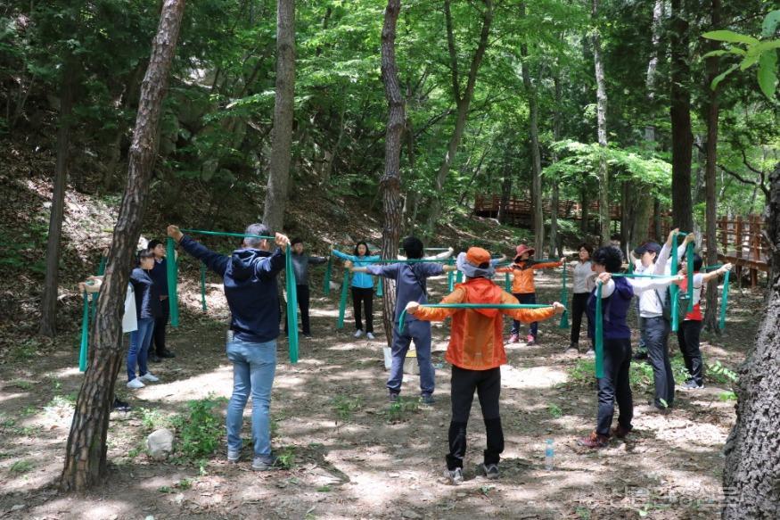 (사진5) 국립대운산치유의숲 이완운동테라피.JPG