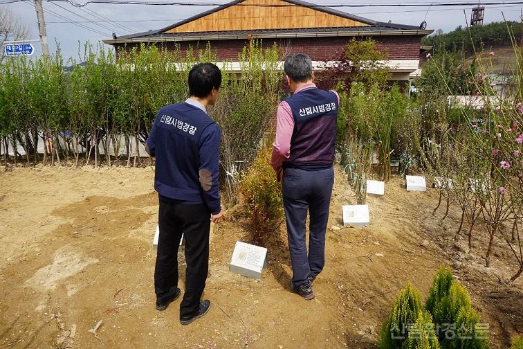 (0221)관련사진2-산림사법경찰이 유통조사를 하고있는 모습.JPG