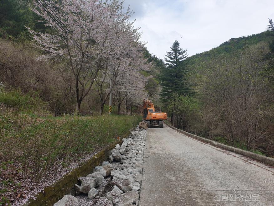 (사진 2) 국립자연휴양림 내 지중화 사업과 관련하여 공사 중인 사진입니다..jpg